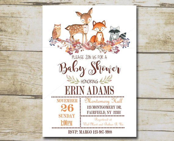 Editable Books for Baby Diaper Raffle inserts /& Thank You card package kit INSTANT DOWNLOAD P01 Woodland Animal Baby Shower Invitation kit