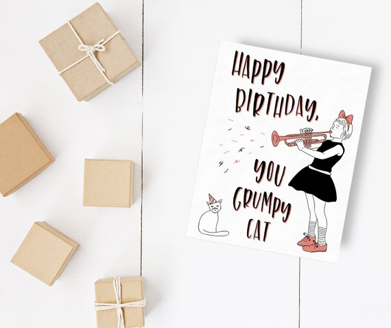 Happy Birthday Printable Card Instant Download Greeting Card Etsy