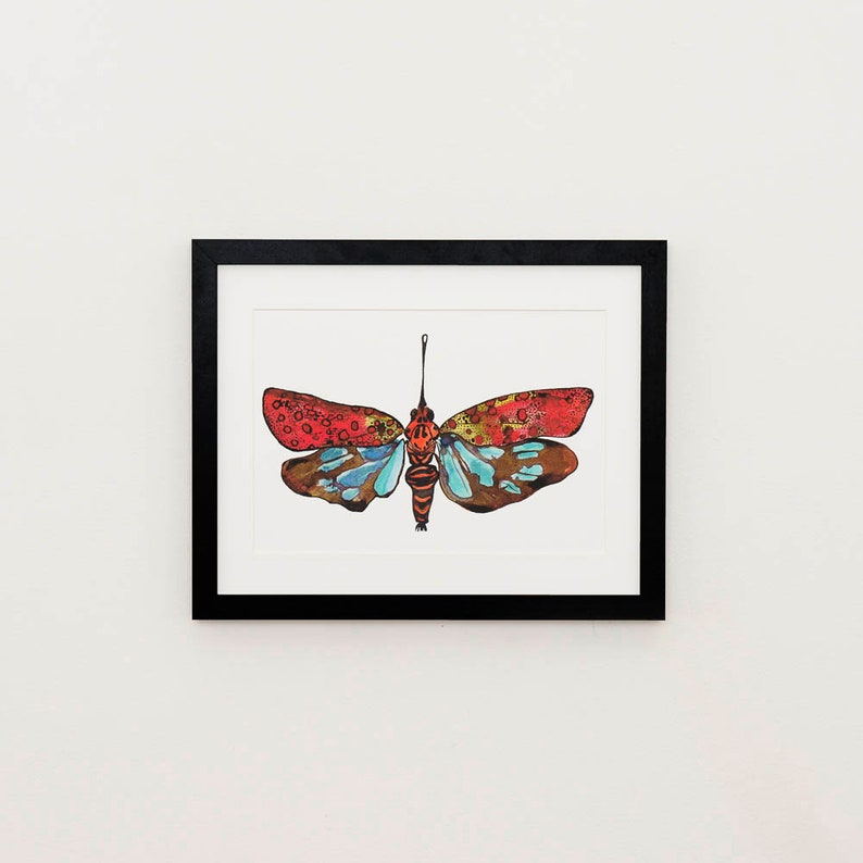 Lanternfly illustration print image 0