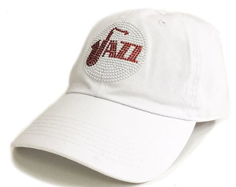 the latest 4672e 6978a Jazz summer beach vacation Rhinestone stud combine Beautiful adjustable  baseball Cap ,hat truck cap woman unisex girl music design cap