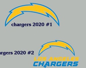 Los Angeles Chargers Sticker Decal Vinyl SET OF 2 Cornhole Truck Car