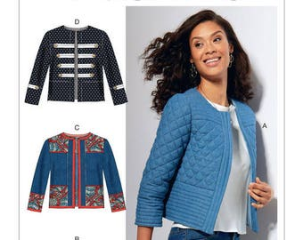 By McCall's M7549 jacket sewing pattern