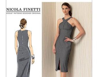 Dress sewing pattern Vogue Designer Nicola Finetti V1498