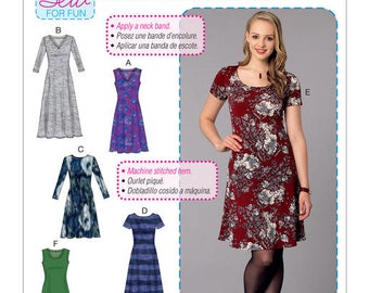 Dress by McCall's M7432 sewing pattern