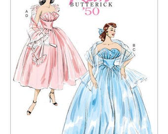 Vintage by B6454 Retro 50's Butterick sewing pattern