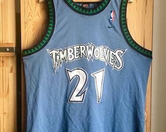 b7c16af18 Kevin Garnett Nike Swingman Jersey XL Minnesota Timberwolves NBA Authentic  Blue