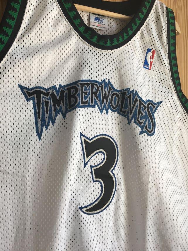 03737cb14 Rare Vintage NWT Authentic Stephon Marbury Starter Minnesota Timberwolves  Jersey 48 NBA Champion Kevin Garnett