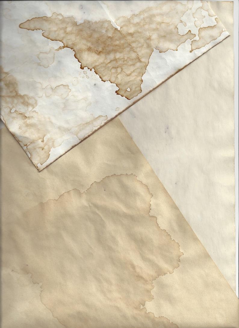 Coffee Dyed Paper Digital Ephemera Stained resume paper Junk Journal  Scrapbook
