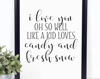 I Love You Oh So Well Like A Kid Loves Candy And Fresh Snow - Dave Matthews Band Lyrics - Digital Download