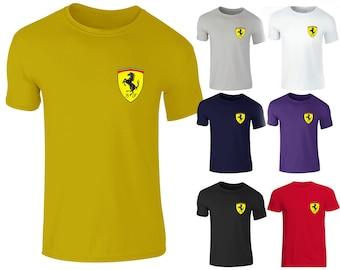 62ca5bb1e4998c Men s Ferrari Italian Scuderia F1 Race Day Sport Racing High Quality Crew  Neck T Shirts
