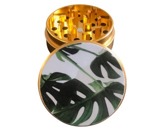 Palm Leaf Herb and Tobacco Grinder 5 Pieces 2 Inches in Diameter Cute Grinder for Herbs Tobacco and Spices