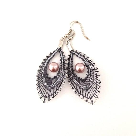 Big peacock eye dangle earring  PA3