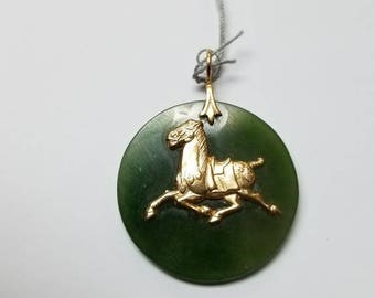 Jade horse etsy 14kt jade horse pendant aloadofball Gallery