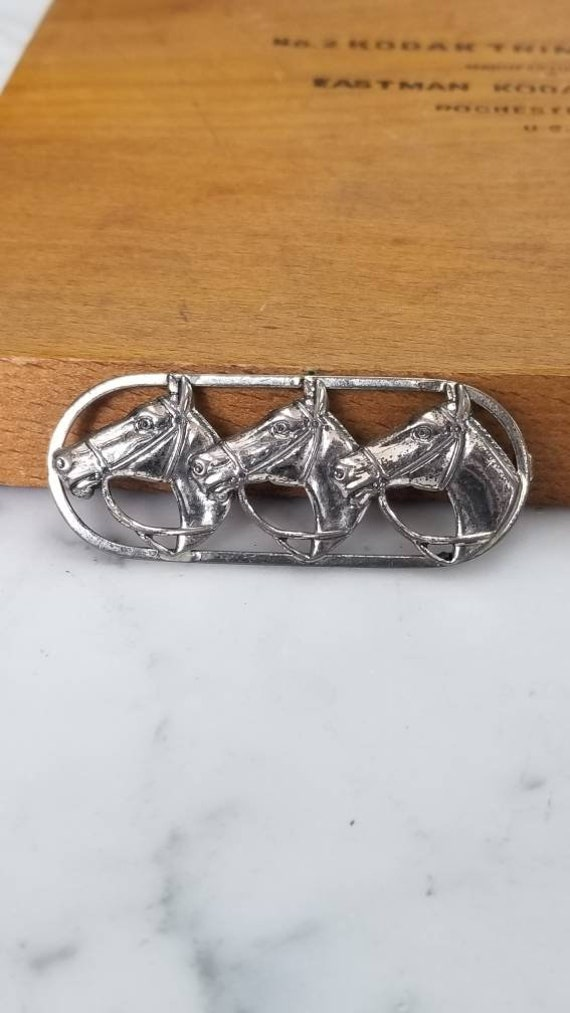Sterling Silver Equestrian Pin
