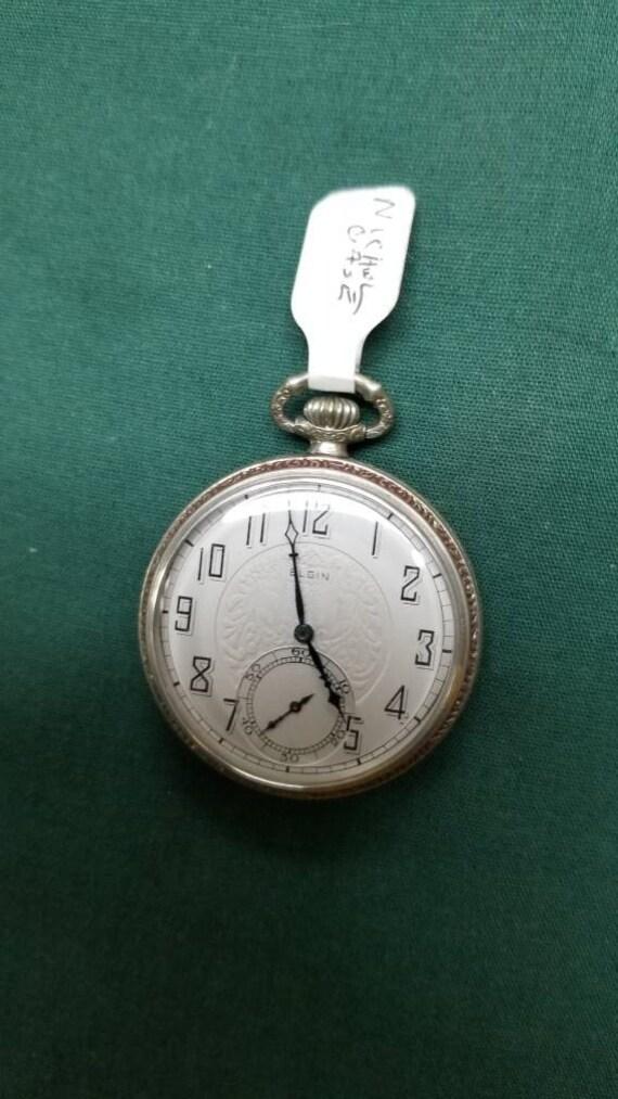 VINTAGE Elgin pocket watch
