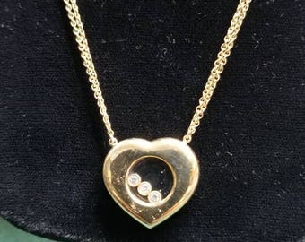 14kt gold window to the heart necklace
