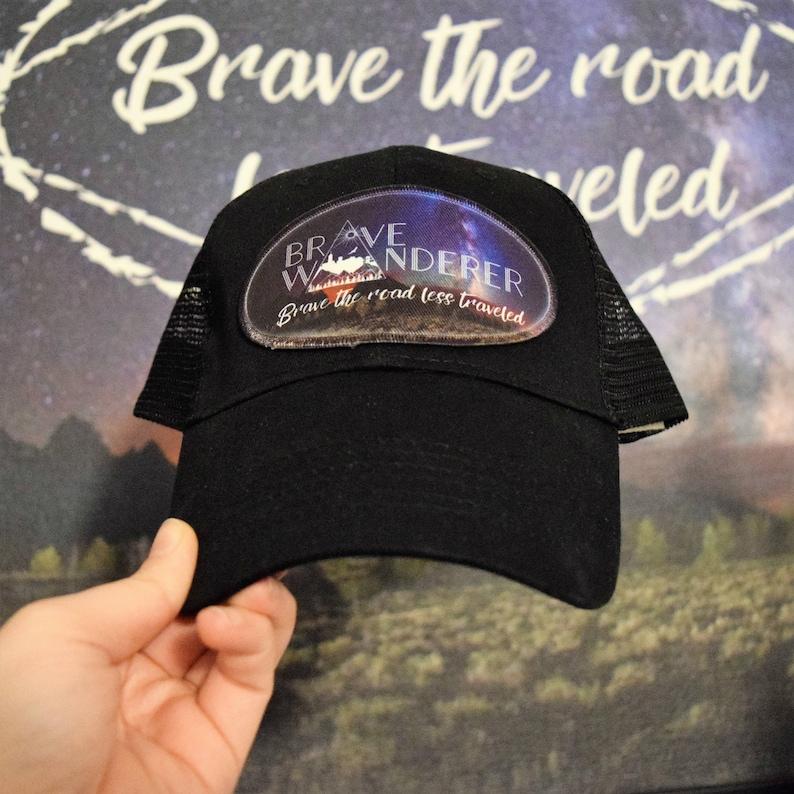 4d0ec9f1f Logo Trucker Hat - Custom Patch Cap - Business Logo Hat - Personalized  Image Patch Trucker Hat - Customized Business Logo Patch Cap