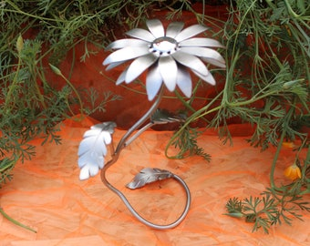 Hand Made Metal Flower Sculpture  Ornament By JustfineDesign