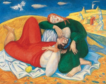 Original Art, Original oil painting, Giclee Print on Canvas, Biblical story, Large wall art canvas, Modern Art Painting, Painting on Canvas