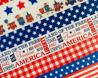 Washi Tape Sample Simply Gilded Patriotic Red