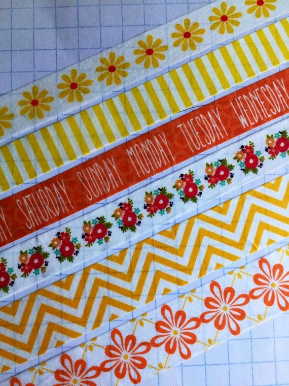 Striped Washi Tape and Chevron Designs for Crafts