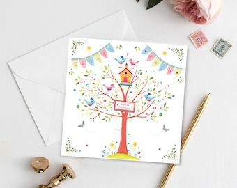 Printable Love Birds Wedding Invitation, Personalised Wedding Invitation, Digital Download