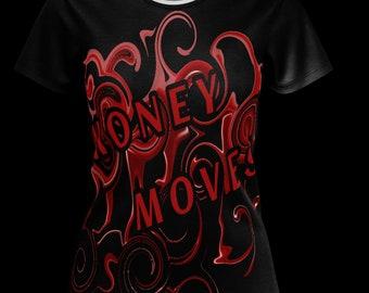 Money Moves T-shirt Womens tees Black Shirts