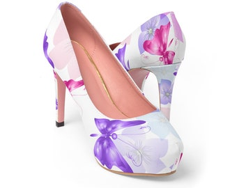 Butterfly High Heels Shoes WomenS Platform Heels