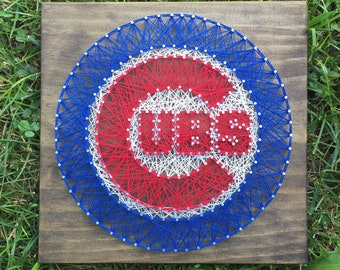 Made to Order Cubs String Art Sign