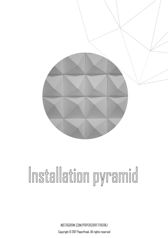 Installation pyramid templates pepakura papercraft low poly paper ...