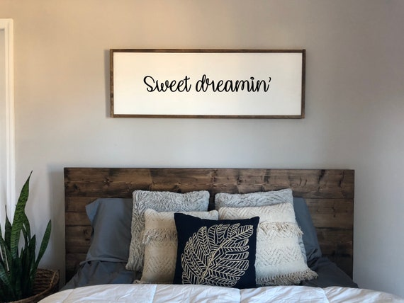 Above The Bed Sign Above Bed Decor Sweet Dreamin Modern Etsy