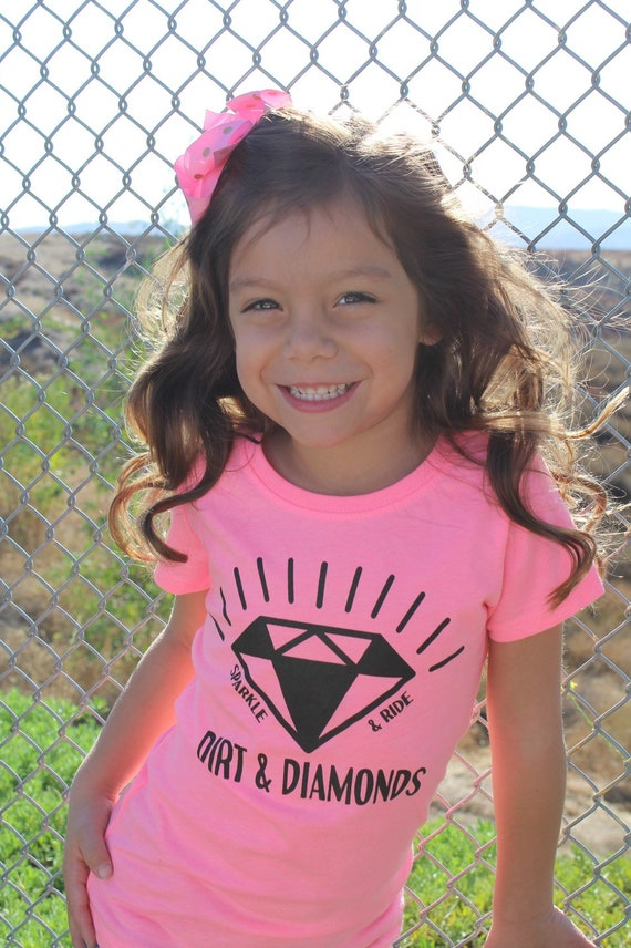 Girl's Neon Check Diamond Tee