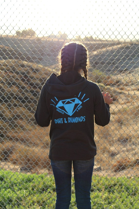 Black/Blue Checkered Diamond Hoodie