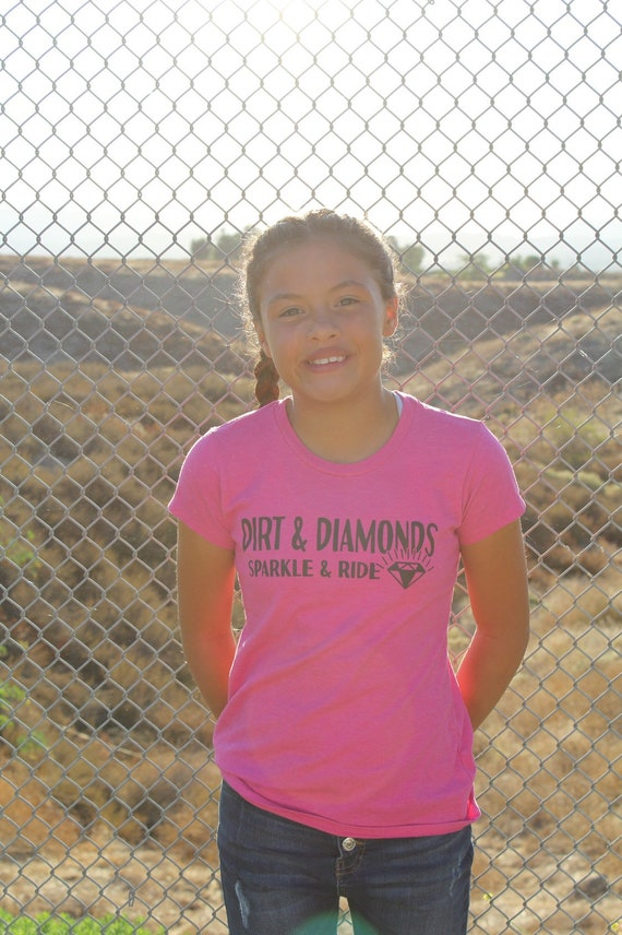 Girl's Dark Checkered Diamond Tee