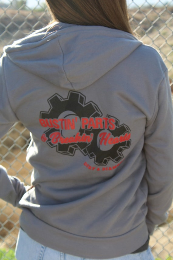 Gray Bustin Parts Hoodie