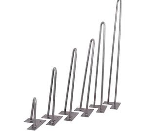 Hairpin Legs (Black/Silver) DIY Industrial Strength Mid Century Modern Table Legs,Set of 4