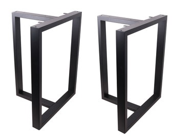 """2 X High Quality 28"""" Dining Table Legs, T-shaped Steel table legs, Office Table Legs,Computer Desk Legs,Industrial kitchen table legs,Black"""