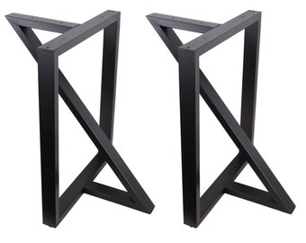 """High Quality 28"""" Dining Table Legs, Z-shaped Steel table legs, Office Table Legs,Computer Desk Legs,Industrial kitchen table legs,Black"""