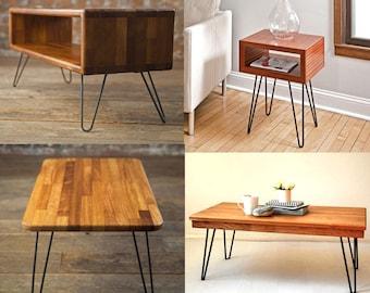 Hairpin Legs (Matte Black) DIY Industrial Strength Mid Century Modern Table Legs,Set of 4
