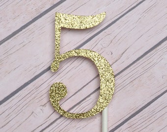 Fifth Birthday Cupcake Toppers, 5th Birthday Cupcake Toppers, Gold 5 Cupcake Toppers, Five Birthday Cupcakes