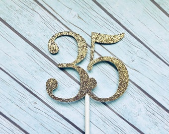 35th Birthday Cupcake Toppers, 35 Cupcake Toppers, Thirty Five Cupcake Toppers, 35th Anniversary, Thirty-Five, Thirty-Fifth