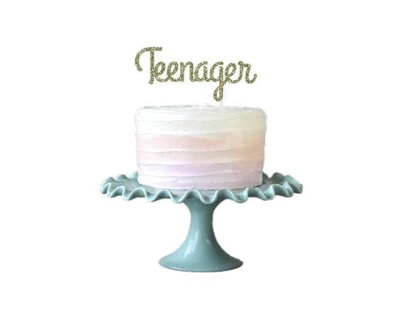 Awesome Teenager Cake Topper Teen Birthday Cake Topper Teen Cake Etsy Funny Birthday Cards Online Unhofree Goldxyz