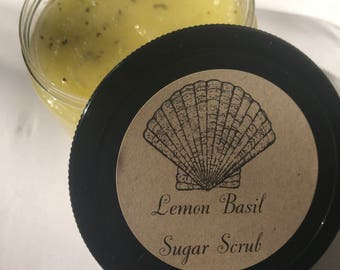 Lemon Basil Sugar Scrub