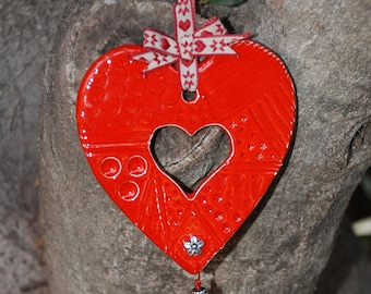 Red Love Heart Wall Hanging