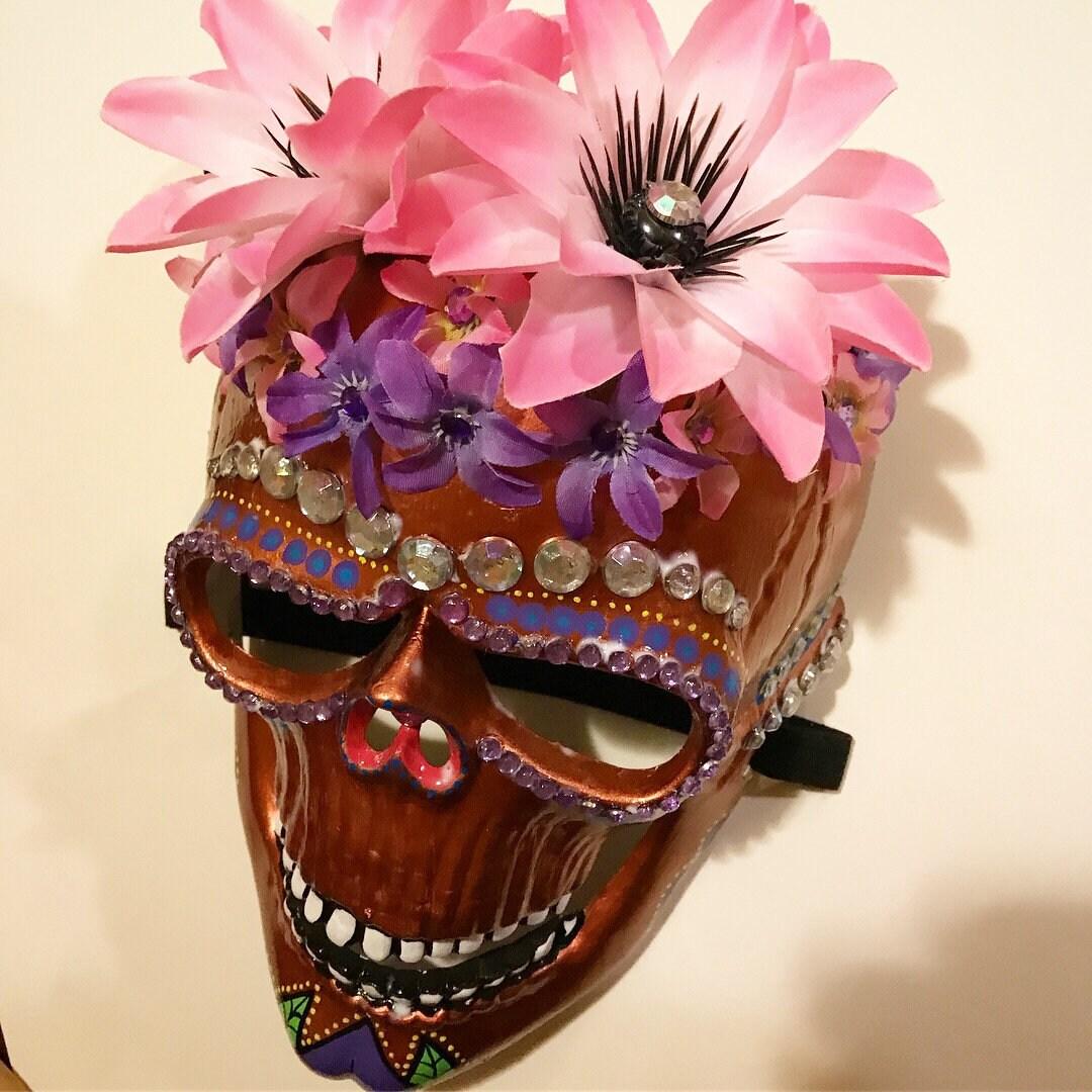 92398ac412c Frida Kahlo Dia de los Muertos Day of the Dead Calavera Sugar Skull Mask