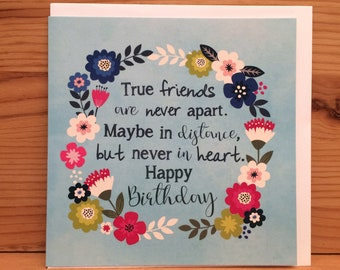 Birthday card friend etsy friends birthday card happy birthday card freindship birthday card friend quote flowersprettybright flowers long distance friend m4hsunfo