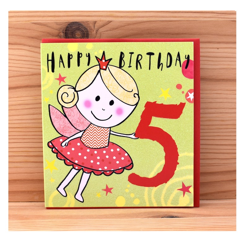 Age 5 Birthday Card Happy Five