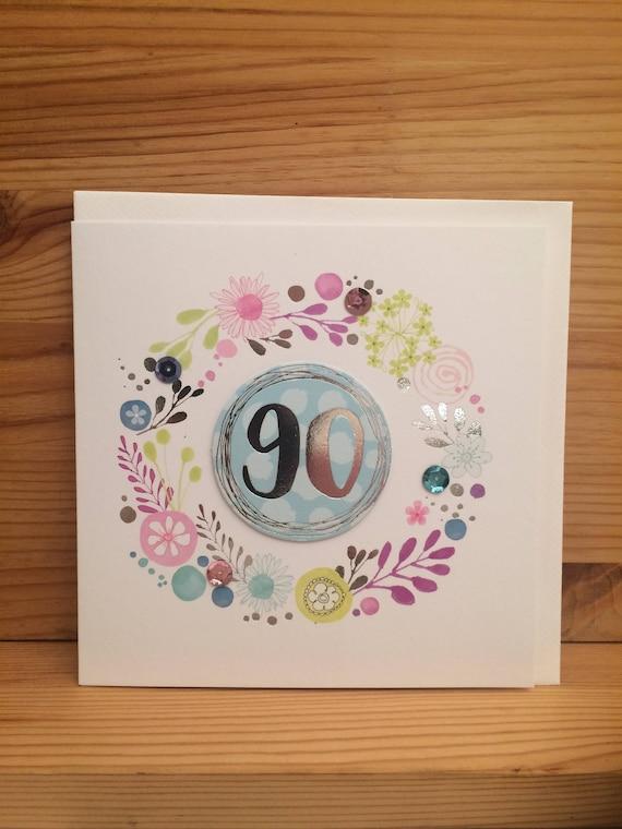 Happy 90th Birthday Card Ninety Special