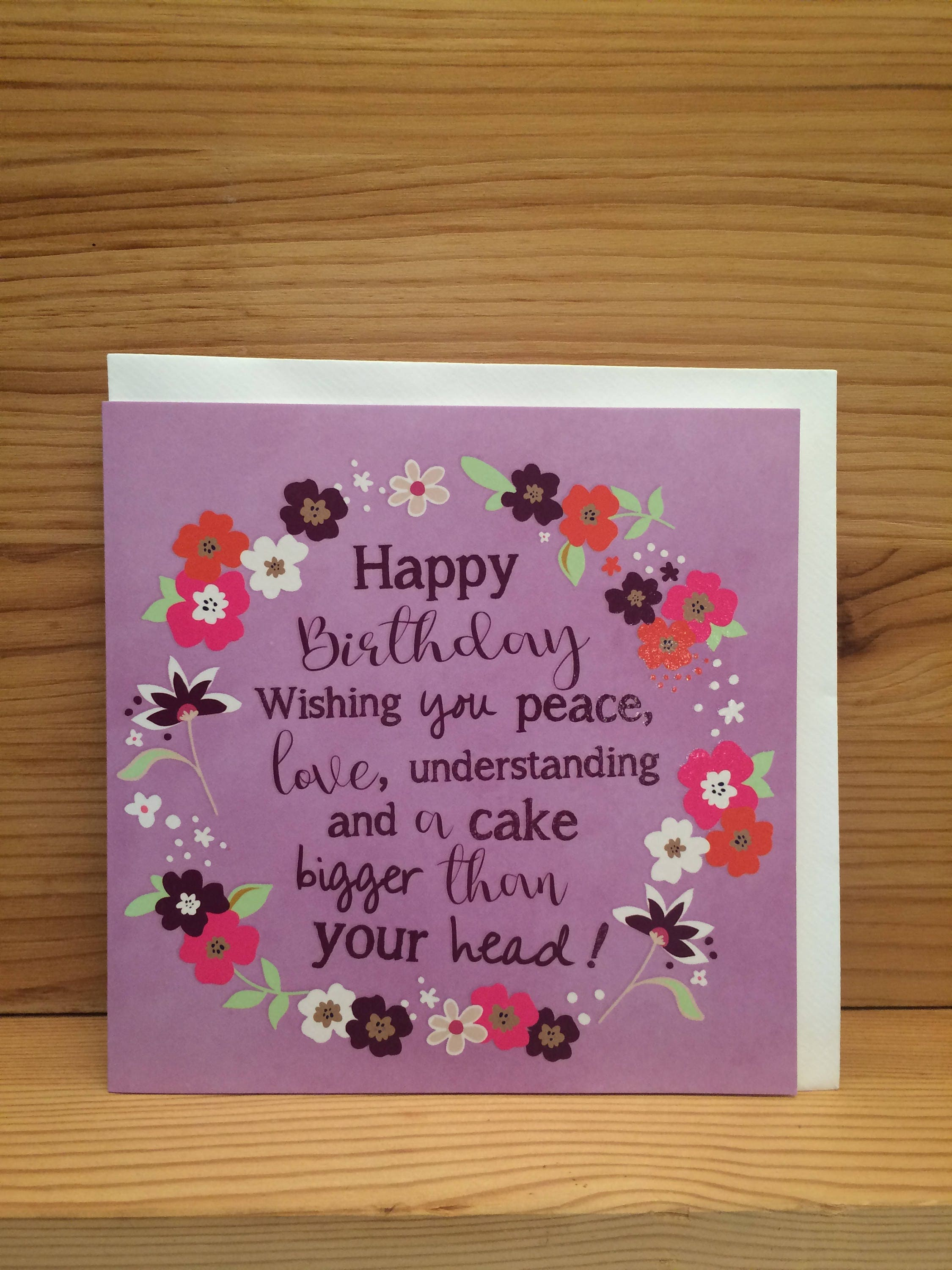 Happy birthday card birthday cake funny quote purple etsy zoom izmirmasajfo