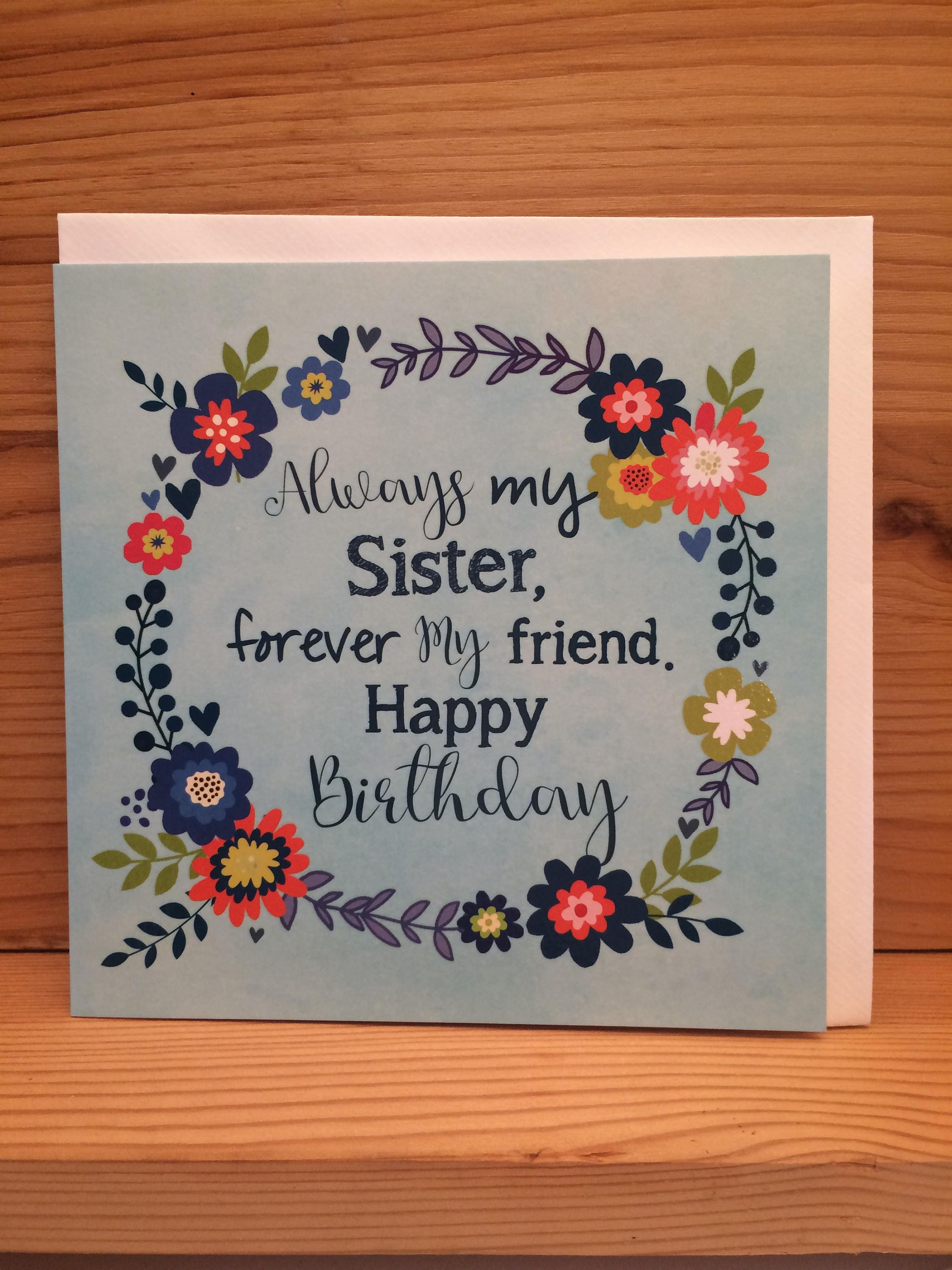 Sister Happy Birthday Card CardSister And Friend Flowersprettybest Sisterspot Varnish